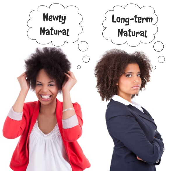 long term natural vs newly natural