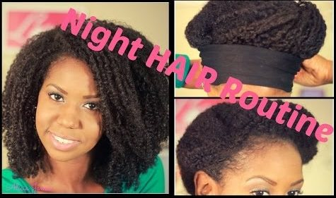 Natural Hair Nighttime Routine - No Pineappling Necessary