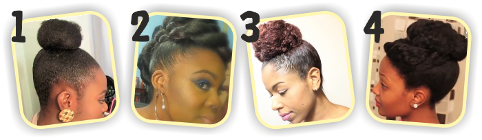 4 easy natural hair buns tutorials