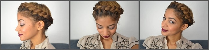 Halo updo aka crown braid