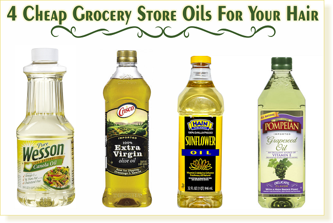 4 cheap grocery store oils for your hair