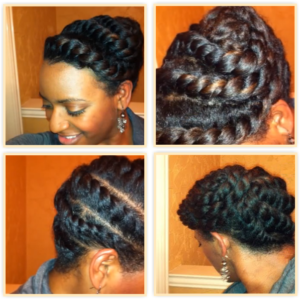 A 15 Minute Flat Twists Updo For Textured Hair