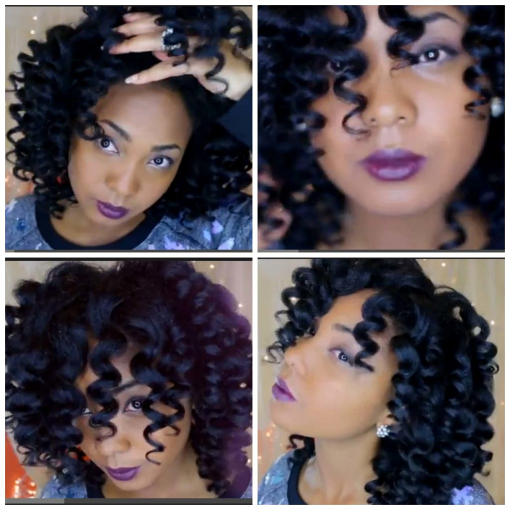 Bouncy Natural Hair Curls for the Holidays