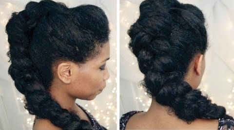 Braided Mohawk style for New Years Eve