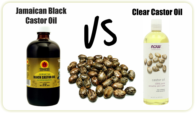 Jamaican black castor oil vs clear castor oil