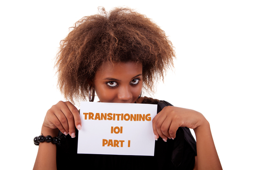 Transitioning 101 part 1 - Black woman holding card