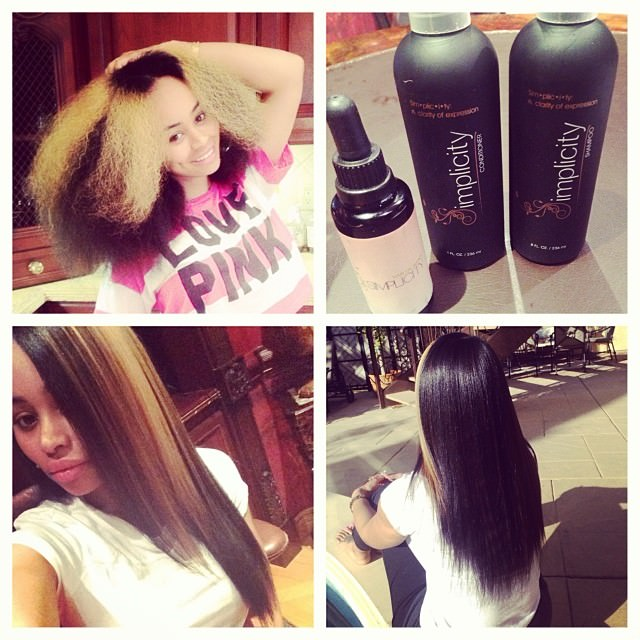 Video Chick Blac Chyna Shows Off Her Natural Hair On Instagram
