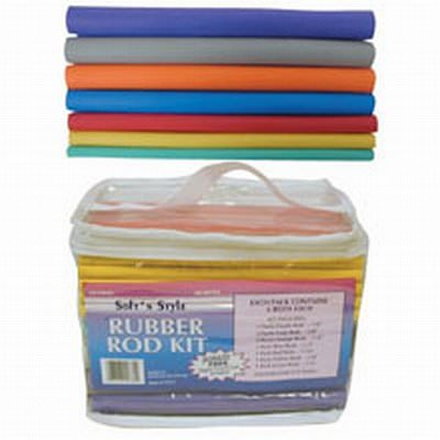 Soft N Style 60 Piece Rubber Rod Set