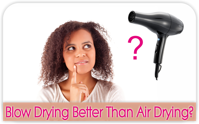 Study shows that blow drying better than air drying