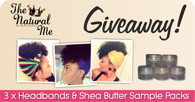 The natural me giveaway graphic