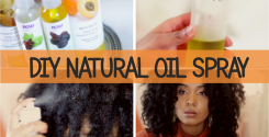 Winter Weather - DIY Natural Oil Spray for Dry Hair And Skin