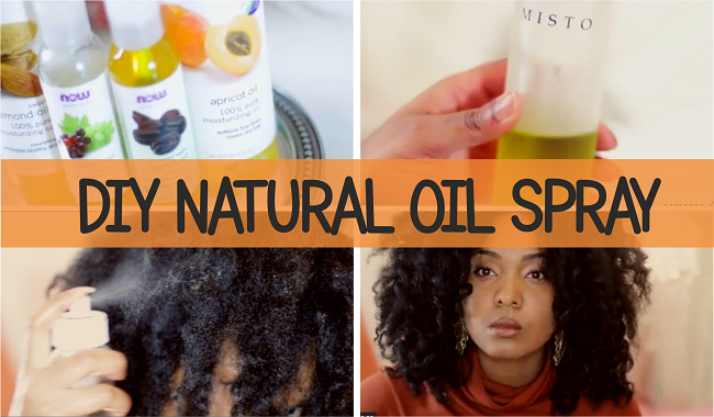diy hair spritz for natural black hair