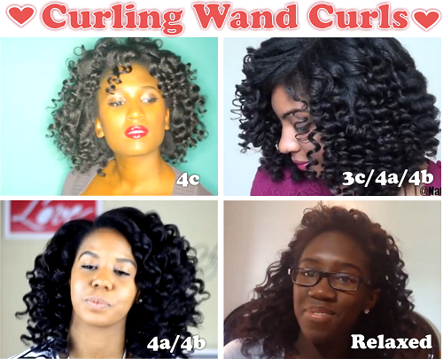 Curling Wand On 4 Hair Textures