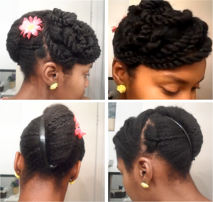Cute Banana Clip Updo On 4c Natural Hair