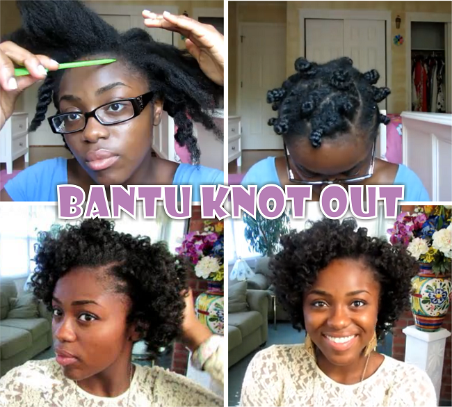Cute Bantu Knot Out On 4c Natural Hair