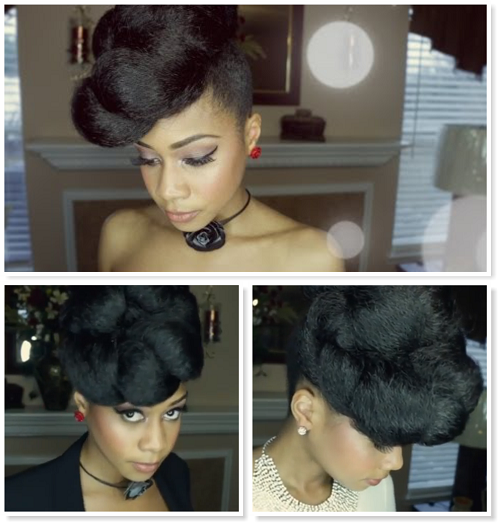 Extravagant Updo Protective Style