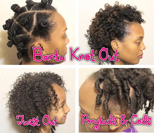 Transitioning Hairstyles For Short Hair Youtube : Family Hair Care  Transitioning Bantu Knots And Kids Hairstyles