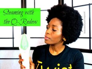 Q-Redew Handheld Hair Steamer 1st Impressions Type 4 Hair