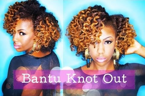 Revive Old Stretched Hair With A Bantu Knot Out