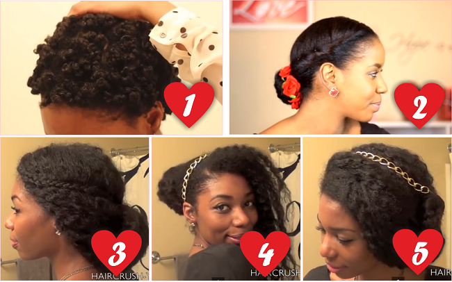 Valentines Hairstyles: Romantic Natural Hairstyles For Valentine's Day
