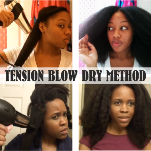 How To Blow Dry Natural Hair Using The Tension Method