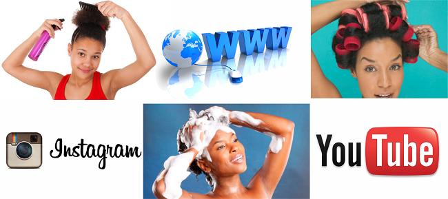 Women doing their own hair websites blogs youtube instagram