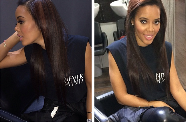 Angela Simmons Reveals Natural Hair On Instagram After A Fresh Flat Iron