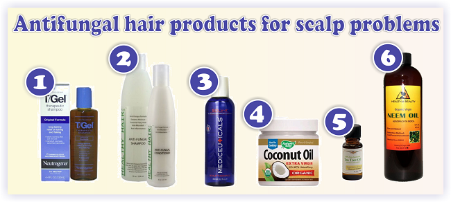 Antifungal hair products for scalp problems