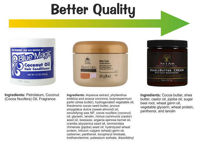 Better quality hair moisturizers and butters
