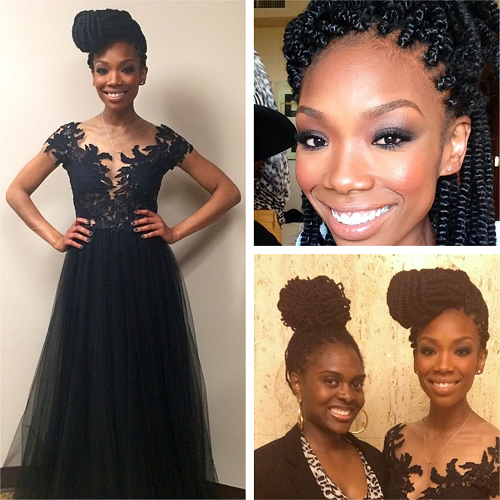 Brandy braids are back