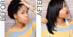How To Flat Iron High Shrinkage Kinky Hair Without Blow Drying
