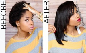 How To Flat Iron High Shrinkage Kinky Hair Without Blow Drying First