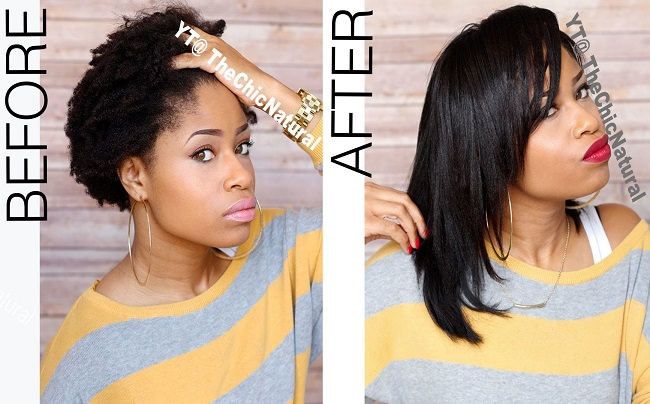 How To Flat Iron High Shrinkage Kinky Hair Without Blow