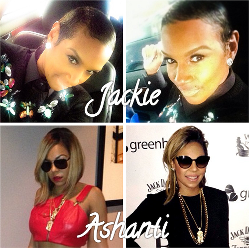 Jackie Christie and Ashanti debut new hairstyles