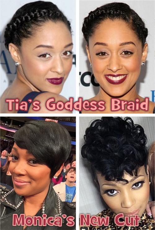Marvelous Monica Brown And Tia Mowry Switch Up Their Styles Short Hairstyles Gunalazisus