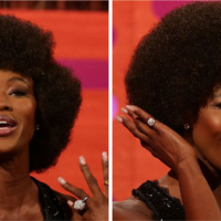Naomi Campbell Ditches Her Straight Weave For An Afro