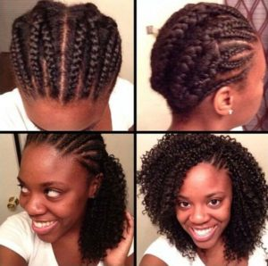Crotchet Braids Tutorial - Side Cornrows Left Exposed