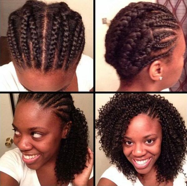 Crotchet Braids Tutorial Side Cornrows Left Exposed Black Hair