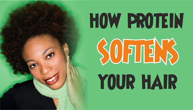 How protein softens your hair