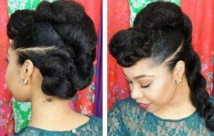 Protective Twist N Bun Style Hairstyle Tutorial