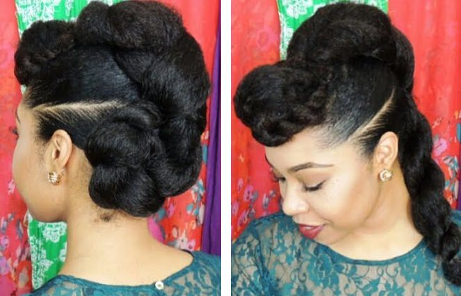 Protective Twist N Bun Style Hairstyle
