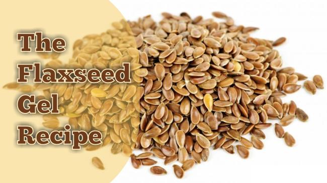 The flaxseed gel recipe