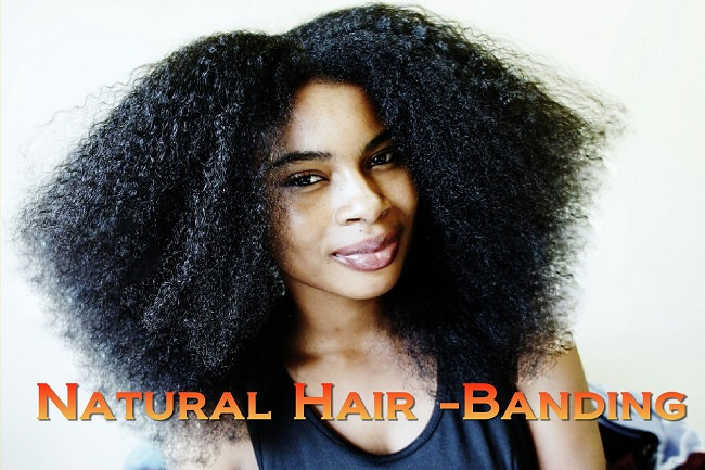 heatless stretched afro banding method