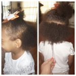 Jazilynn's hair shared by mom Ashley She has been growing her hair with Aunt Jackie's products