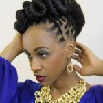 Love this updo with locs