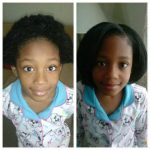 The shrinkage is real – 7 year old Tianna with hot combed hair