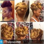Roll, tuck, pin ..repeat gorgeous updo by IG @Iyssespooh88