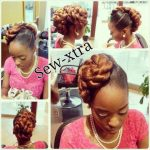 Updo shared by – Sew-xtra styles by shonb on FB