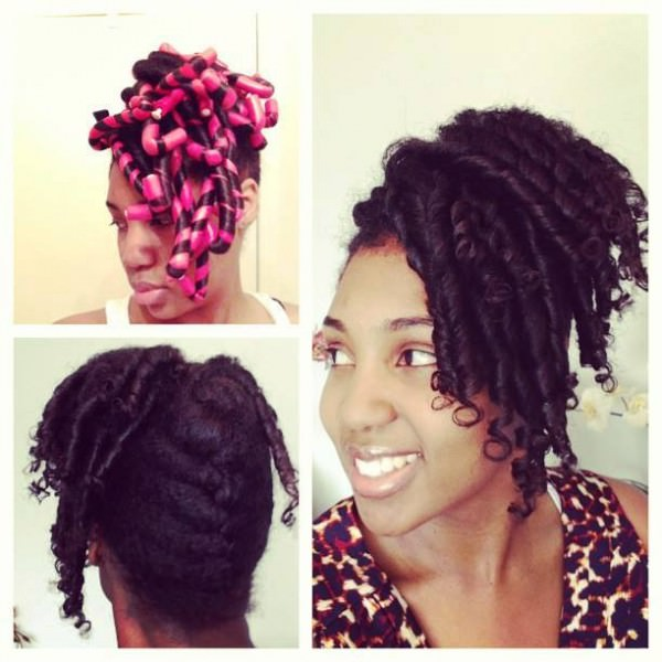 Cute Flexi Rod Updo Black Hair Information