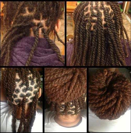 Two Strand Twists With Locs So Pretty Black Hair